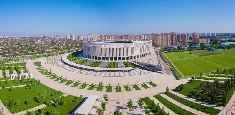 Krasnodar, Rusia - mayo de 2019: Vista panorámica del estadio de Krasnodar fotografía de archivo libre de regalías