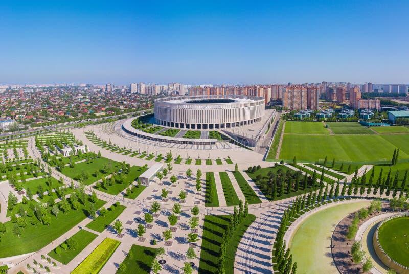 Krasnodar, Rusia - mayo de 2019: Vista panor?mica del estadio de Krasnodar imágenes de archivo libres de regalías