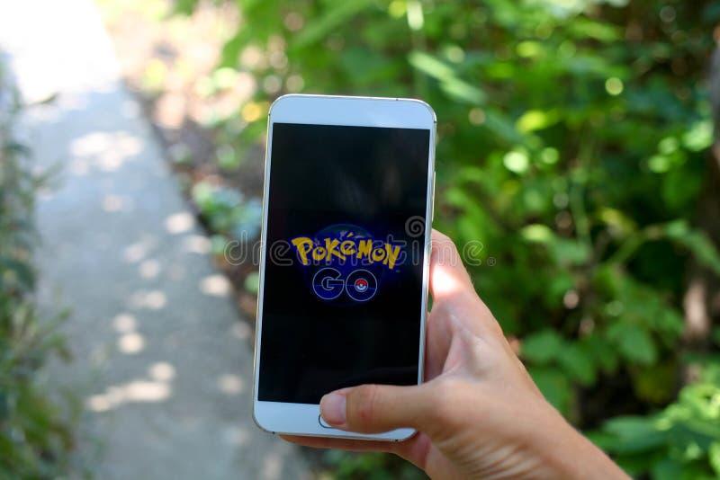 KRASNODAR, RUSLAND - op 26,2016 Juli: Pokemon gaat is een plaats royalty-vrije stock foto