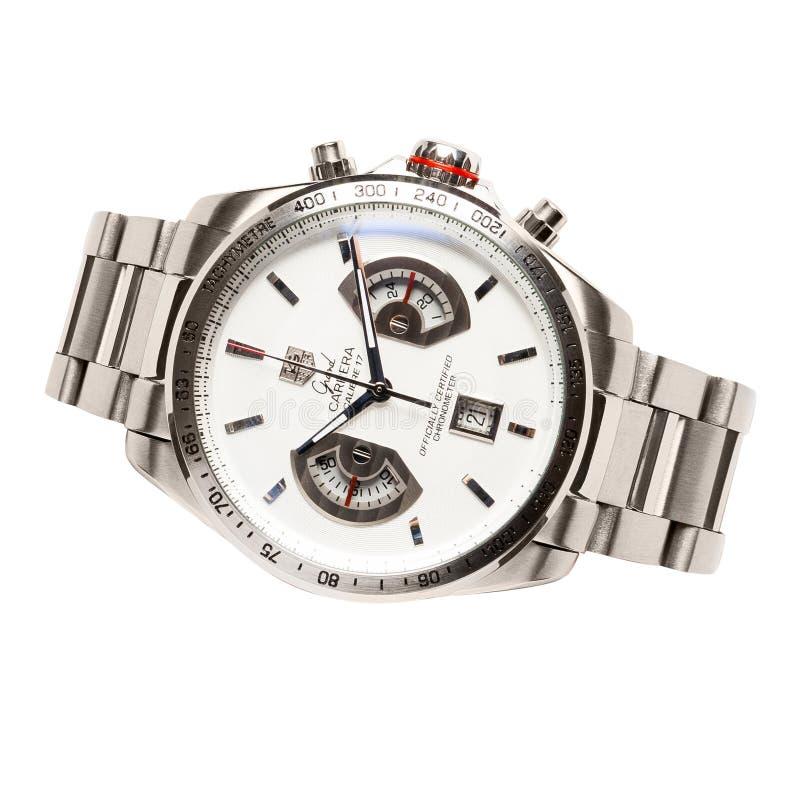 Krasnodar, Russia - January 18, 2019: Hublot, Geneve, Tuiga 1909, Big Bang. Hublot is one of the world most renounced luxury watch. Brand royalty free stock photo