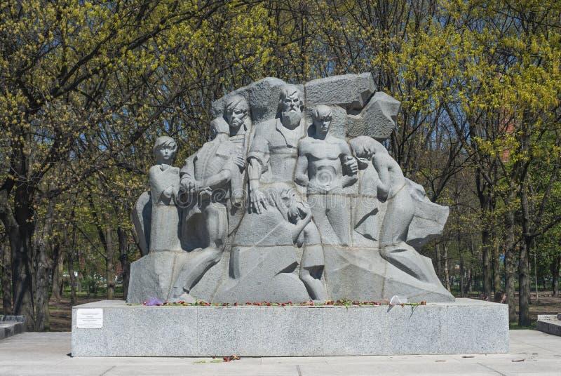 KRASNODAR, RUSSIA - 5 MAGGIO 2019 Monumento 13 migliaia di Krasnodar - vittime del terrore fascista in città Krasnodar fotografia stock