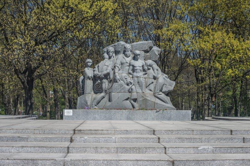 KRASNODAR, RUSSIA - 5 MAGGIO 2019 Monumento 13 migliaia di Krasnodar - vittime del terrore fascista in città Krasnodar immagini stock libere da diritti
