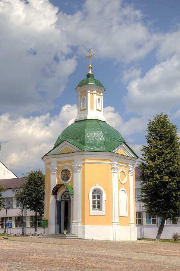 Krasnogorsk kapell St Sergius Lavra för helig Treenighet arkivbild