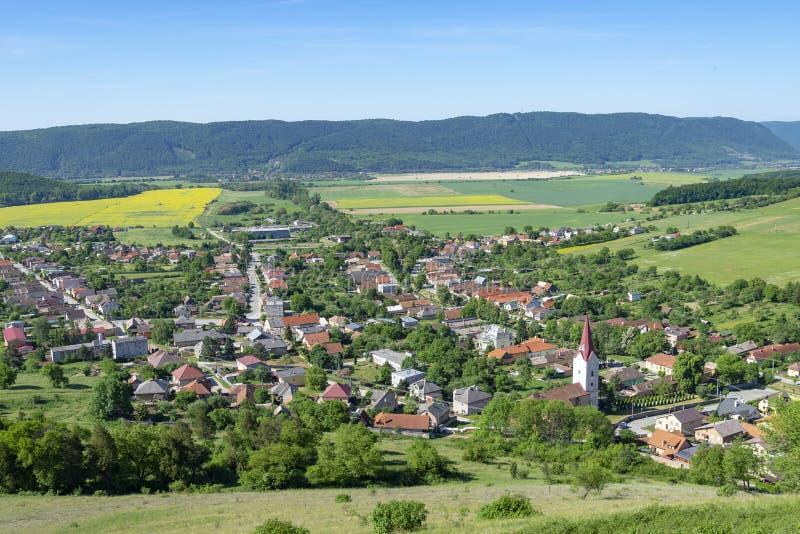 Krasnohorske Podhradie in Slovakia. Krasnohorske Podhradie - small village in Slovakia near Krasna Horka castle stock photos