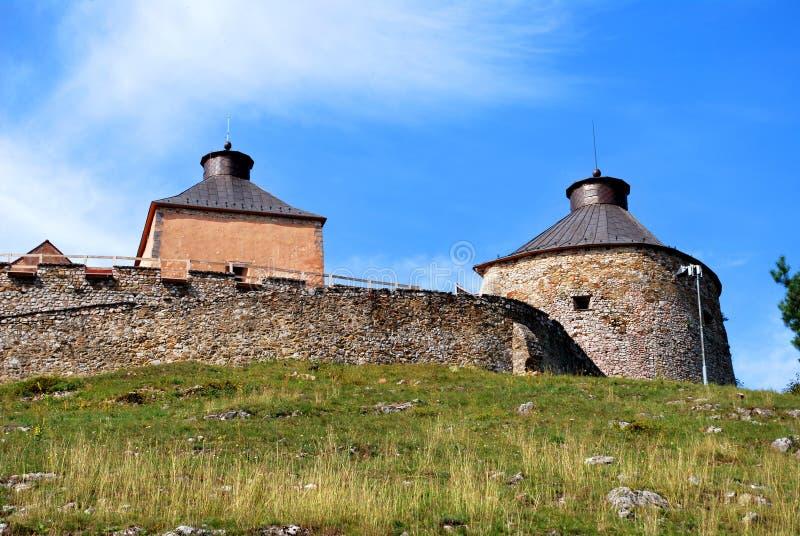 Krasnohorske Podhradie, Slovakia: The Krasna Horka Castle. Krasnohorske Podhradie, Slovakia - September 13, 2018: The Krasna Horka Castle royalty free stock image