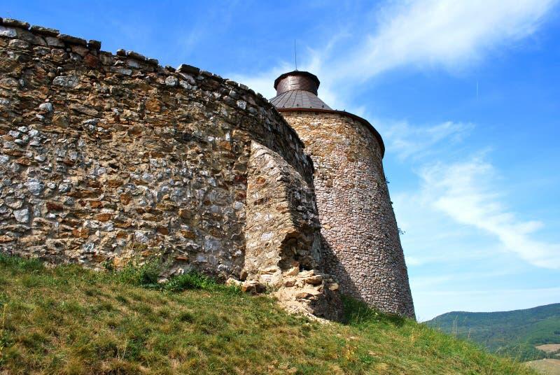 Krasnohorske Podhradie, Slovakia: The Krasna Horka Castle. Krasnohorske Podhradie, Slovakia - September 13, 2018: The Krasna Horka Castle stock images