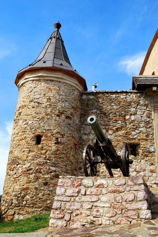 Krasnohorske Podhradie, Slovakia: The Krasna Horka Castle. Krasnohorske Podhradie, Slovakia - September 13, 2018: The Krasna Horka Castle royalty free stock images