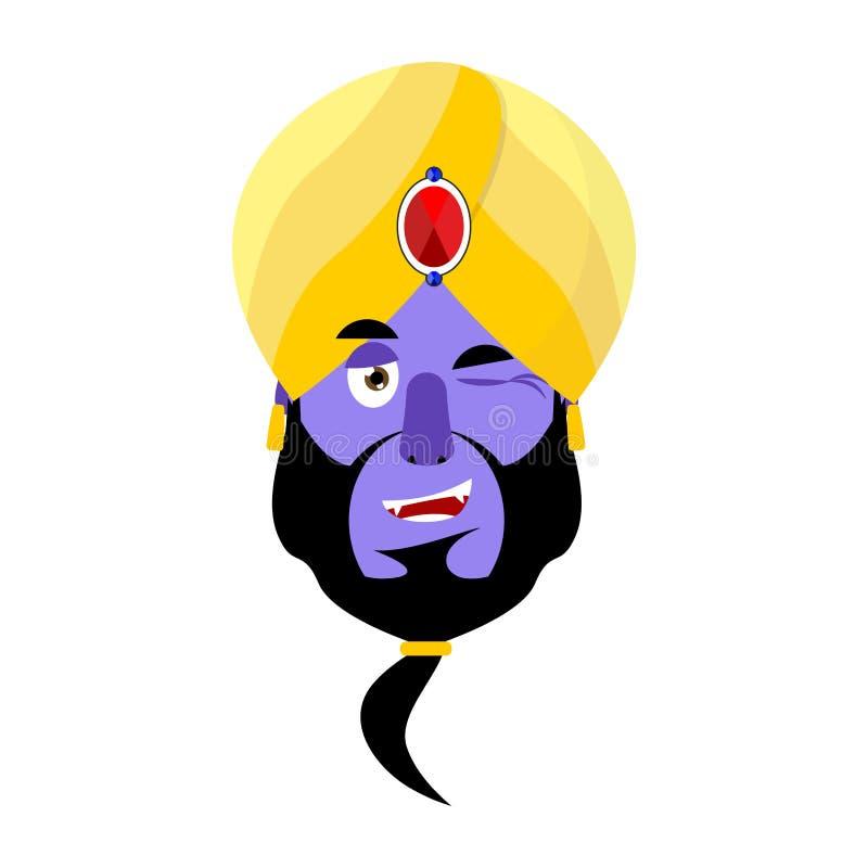 Krasnoludek mruga Emoji Magicznego ducha szczęśliwa emocja royalty ilustracja
