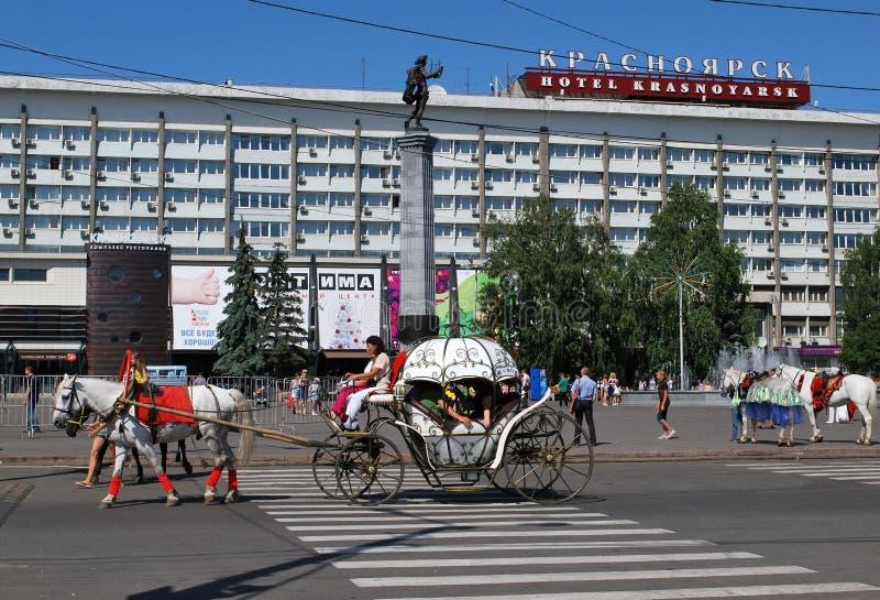 krasnoyarsk гостиницы стоковые фотографии rf