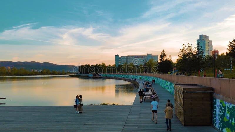 Krasnoyarsk miasto zdjęcia royalty free