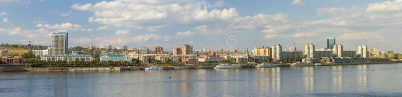 Krasnoyarsk panorama royaltyfria bilder