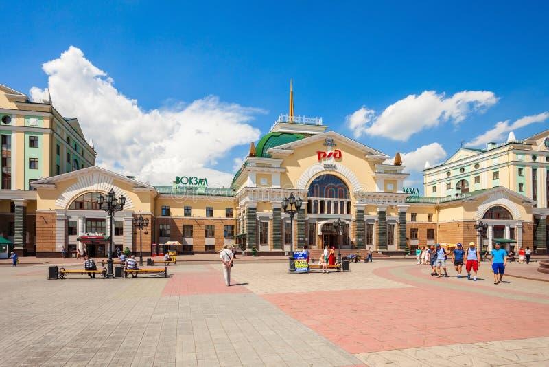 Krasnoyarsk TransSiberian Railway Station Editorial Stock Photo - Where is russia located