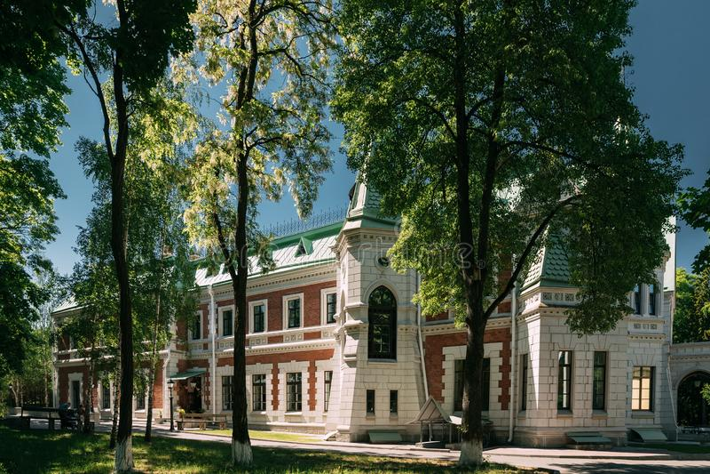 Krasny Bereg, Zhlobin område, Vitryssland Säteri-parkera komplexa Gato royaltyfri bild