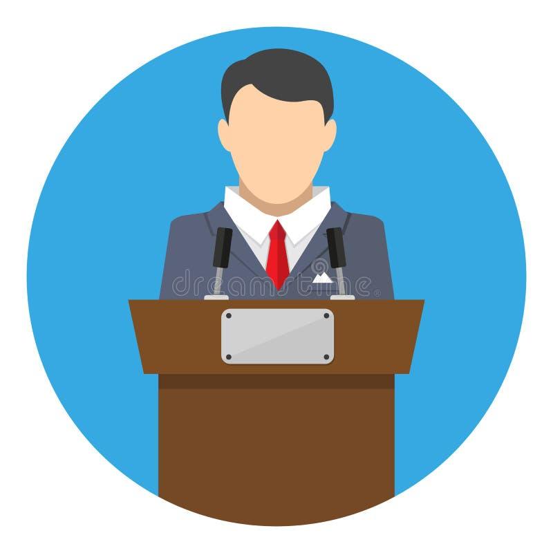 Krasomówcy mówienie od trybuny ilustracji