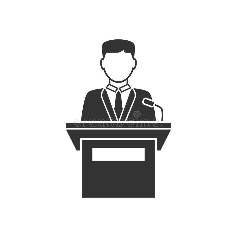 Krasomówcy mówienie od trybuny ikony royalty ilustracja
