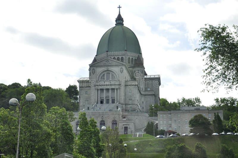 Krasomówstwo świętego Joseph budynek od góry Królewskiej Montreal w Quebec prowinci zdjęcia royalty free