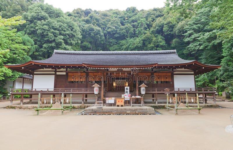 Krasomówstwo Haiden & x28; 1215& x29; ujigami Sintoizm świątynia w Uji, Japonia Na fotografia stock