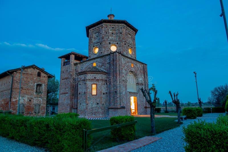 Krasomówstwo San Biagio w Rossate ja obraz royalty free