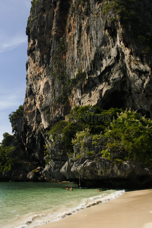 krasu krabi beach railay Thailand obraz royalty free