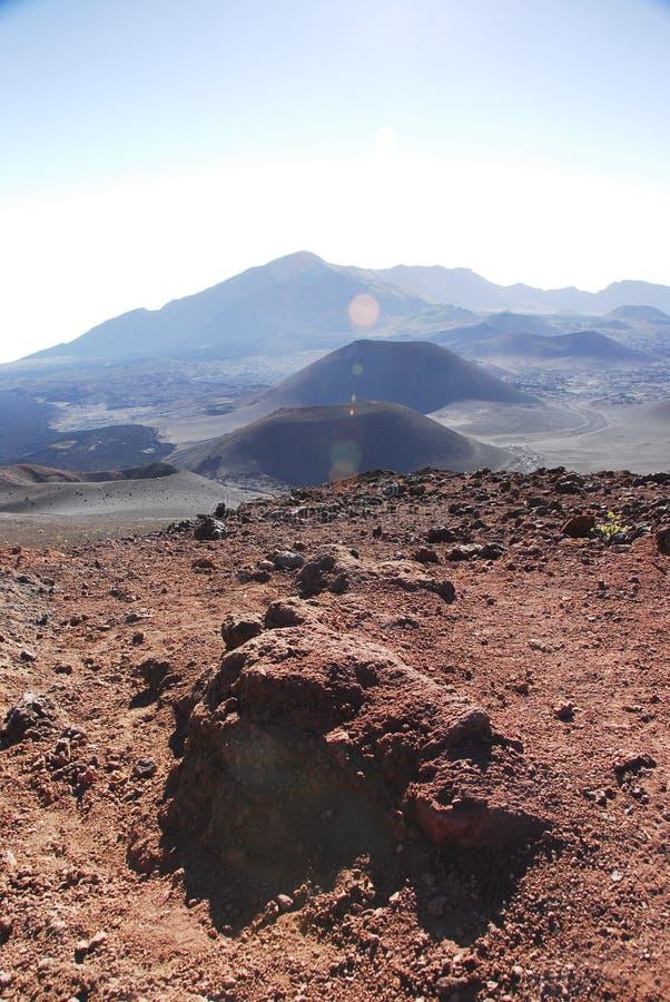 kraterów haleakala park narodowy obraz stock