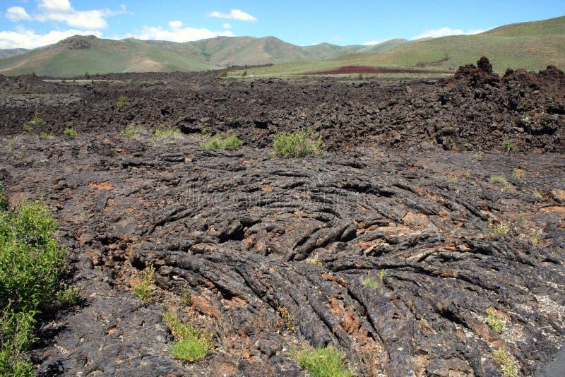 Krater av den nationella monumentet för måne i sydliga Idaho arkivfoton