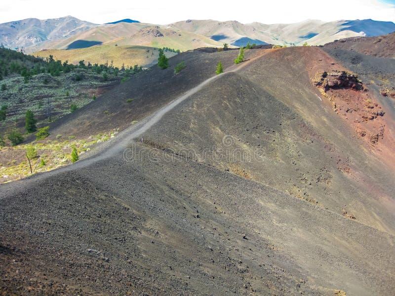 Krater av månen Idaho arkivbild