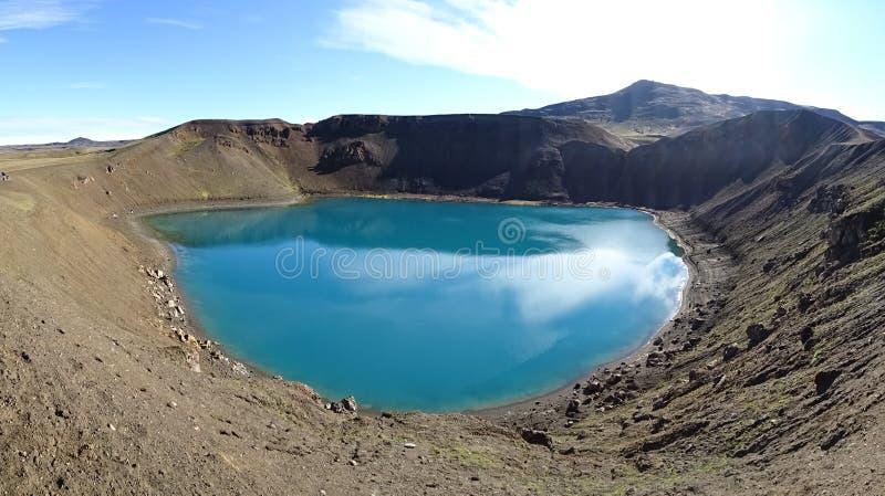 Krater för Volcano Krafla ` s royaltyfria foton