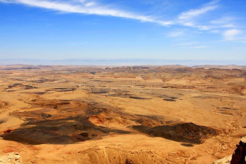 krater Israel Ramon obraz stock