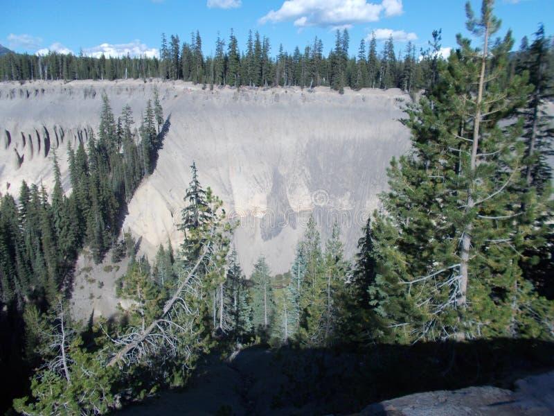Krater jeziora park narodowy fotografia royalty free