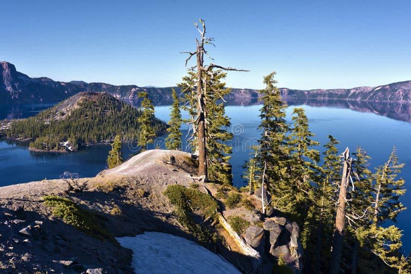Krater jeziora park narodowy zdjęcie royalty free