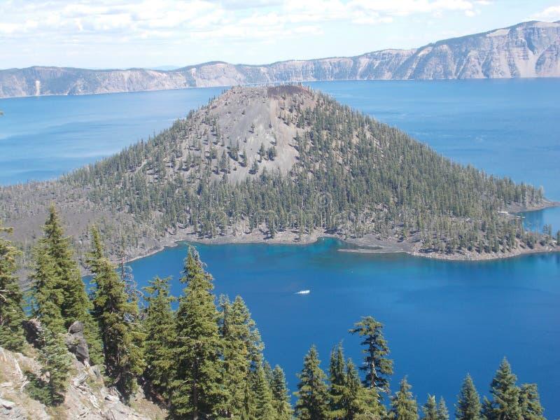 Krater Lakenationalpark royaltyfria bilder