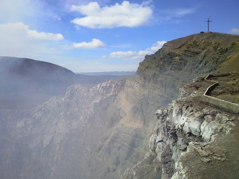 Krater poświęcenie? Masaya Volcan krater, Masaya, Nikaragua obrazy stock