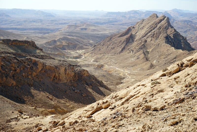 Krater Ramon obraz stock