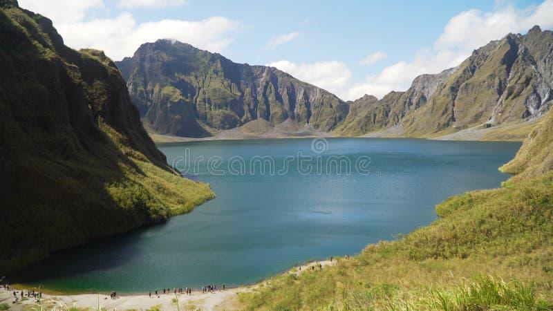 Krater sjö Pinatubo, Filippinerna, Luzon arkivbild