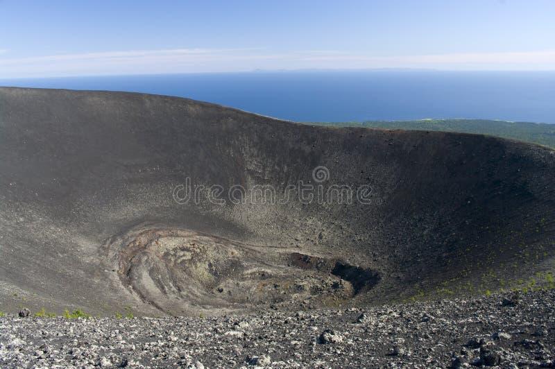 Krater stratovolcano Tyatya royalty free stock photography