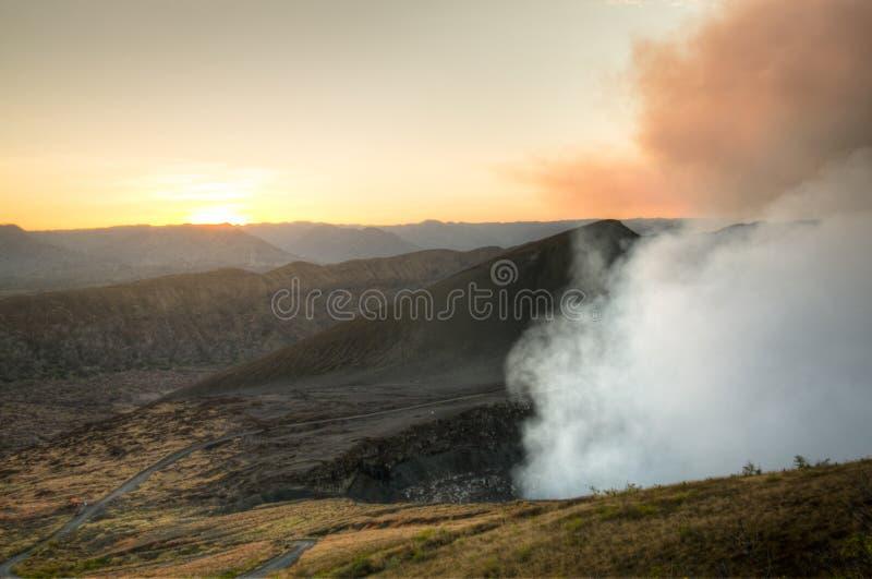 Krater van de Mombacho-Vulkaan dichtbij Granada, Nicaragua royalty-vrije stock afbeeldingen