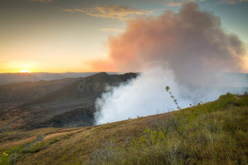 Krater van de Mombacho-Vulkaan dichtbij Granada, Nicaragua stock foto