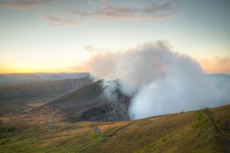 Krater van de Mombacho-Vulkaan dichtbij Granada, Nicaragua royalty-vrije stock foto's