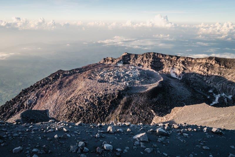 Krater wulkan Semeru zdjęcia royalty free