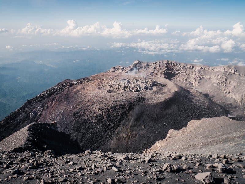 Krater wulkan Semeru obrazy stock