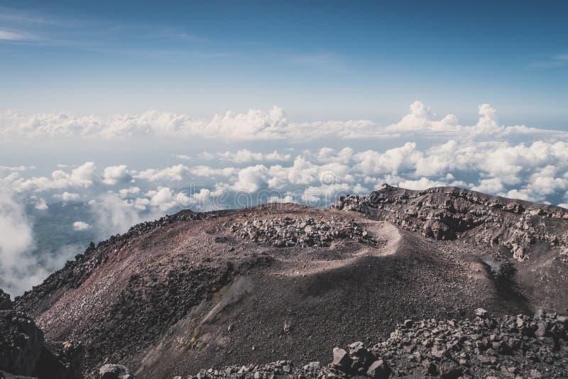 Krater wulkan Semeru zdjęcia stock