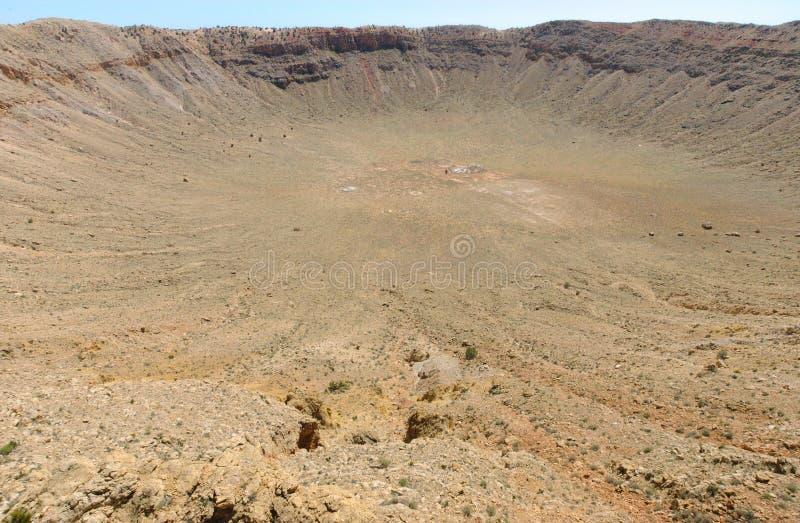 kratermeteor royaltyfria foton