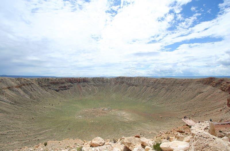 kratermeteorsikt arkivbilder
