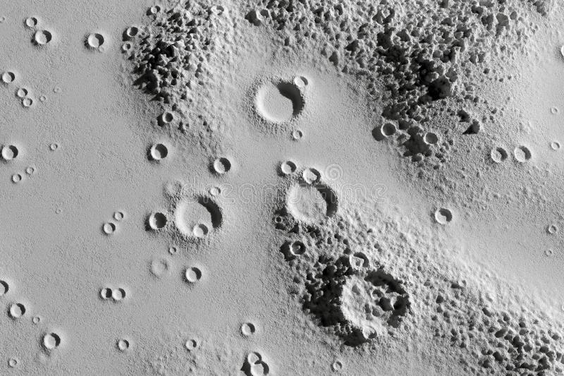 Kraters op de maan luchtclose-up stock foto