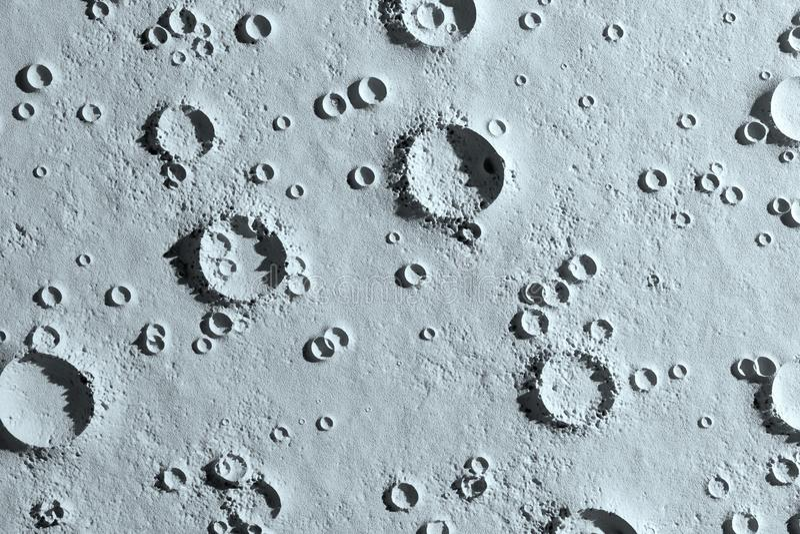 Kraters op de maan luchtclose-up stock foto's