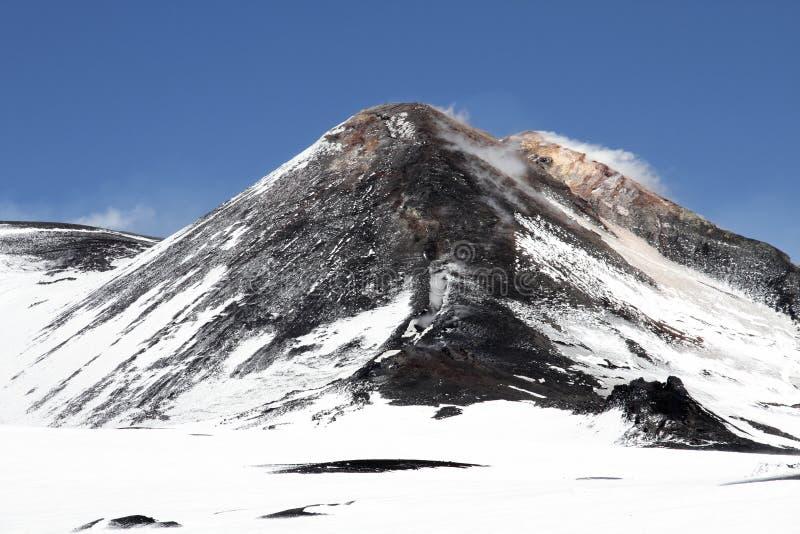 krateru Etna góry wulkan fotografia royalty free