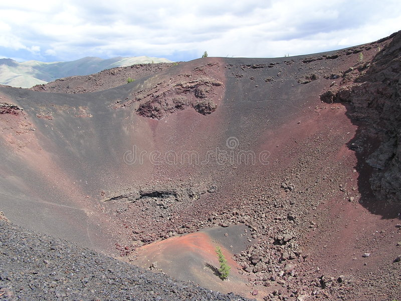 Krateru Idaho Widok Fotografia Stock