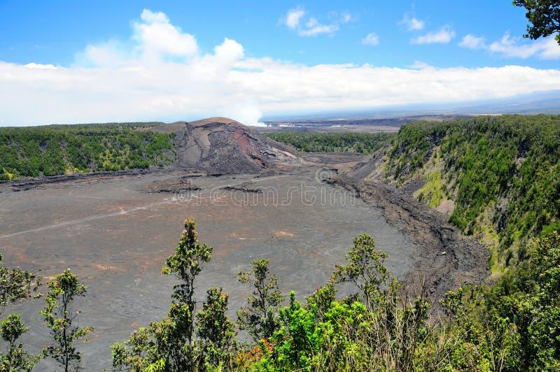 krateru iki kilauea zdjęcie stock