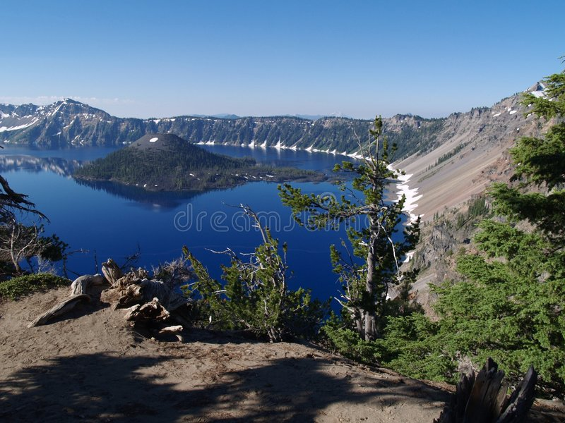 krateru jeziora obrazy stock