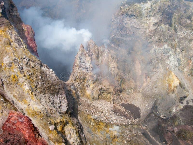 Kratery Etna zdjęcie stock